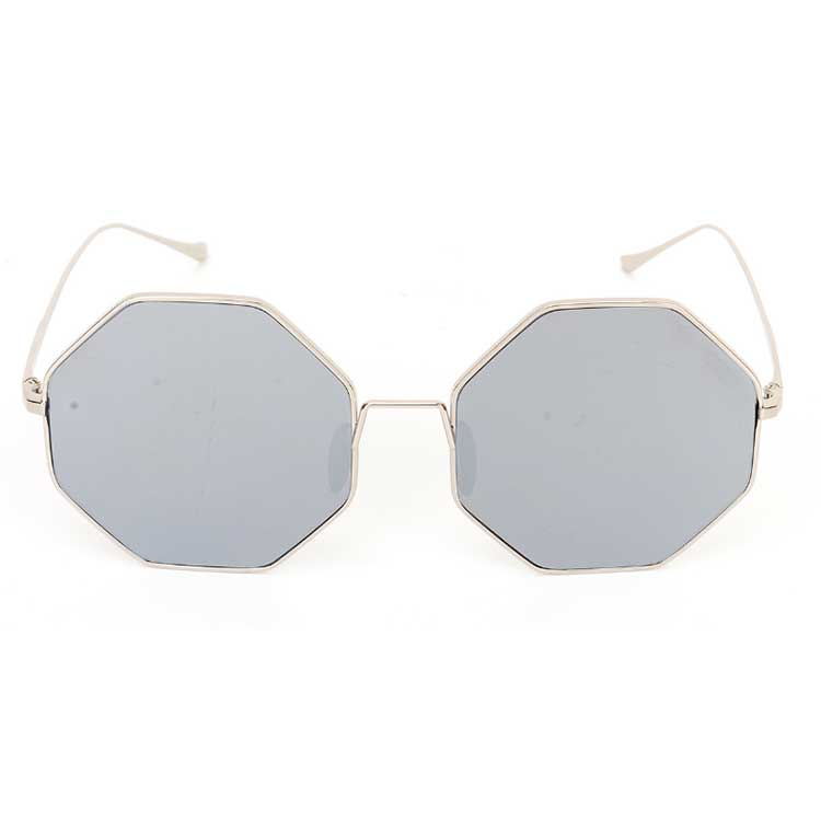 Hot selling Italy design polygon sunglasses mirror nylon lens drop shipping
