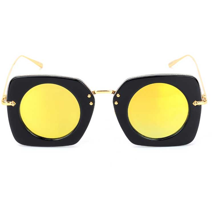 Ready stock high quality unisex acetate and metal combined acetate frame sunglasses