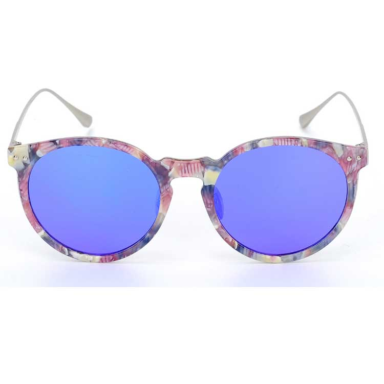 High quality Tortoise Frame titanium and acetate luxury polarized sunglasses women