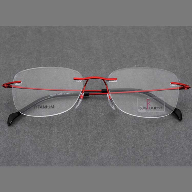 Rimless executive titanium optical eyewear screwless frames optical eyeglasses