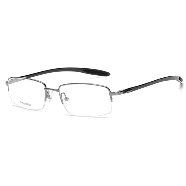 Hanya eyewear rimless titanium men optical frames glasses