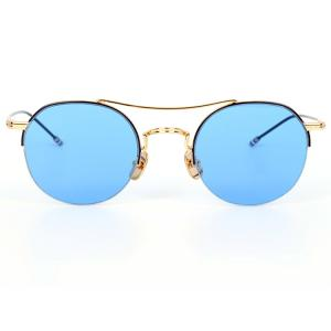 China manufacturer Vintage Round half rimless  Sunglasses with mirror lens