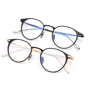 Ultra light titanium eyeglasses optical frame round shape