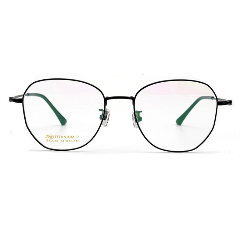 Allergy free anti-fading titanium eye glasses
