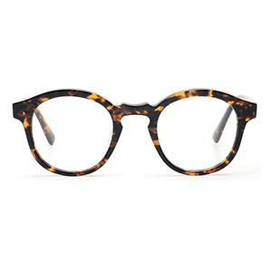 Crystal and  tortoiseshell  acetate optical round glasses